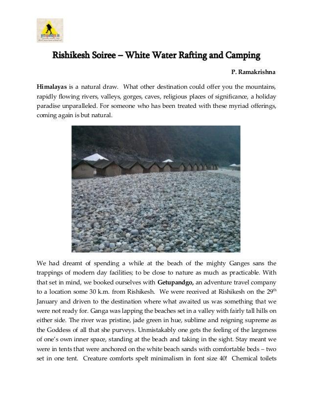 Rishikesh Soiree – White Water Rafting and Camping