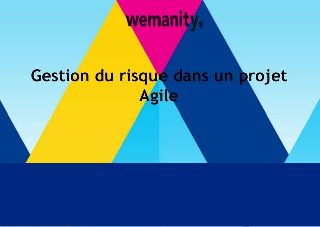 t  Gestion du risque dans un projet  Agile