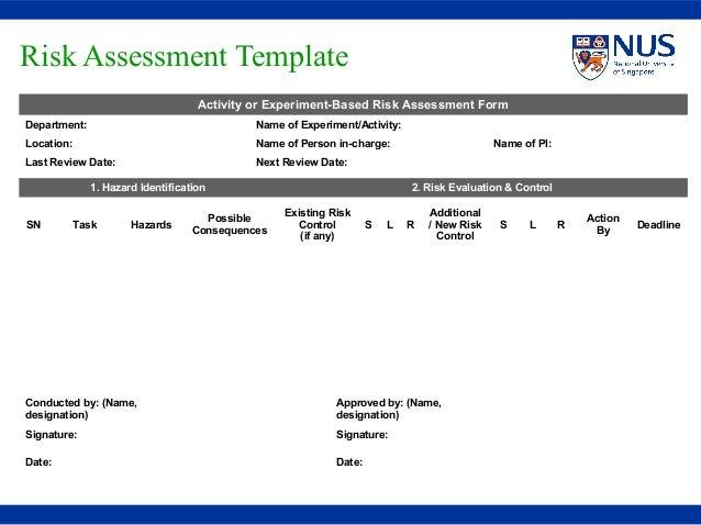 Risk Assessment Blank Template Risk Assessment Isms Risk