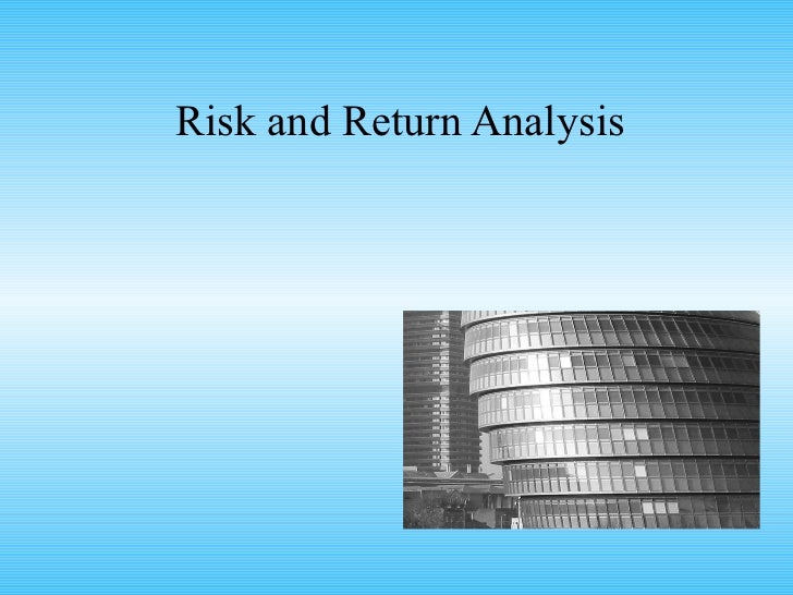 risk return analysis Final guidance on risk analysis requirements under the security rule.