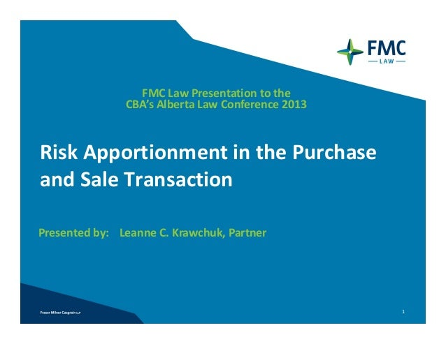 Risk Apportionment in the Purchase and Sale Transaction