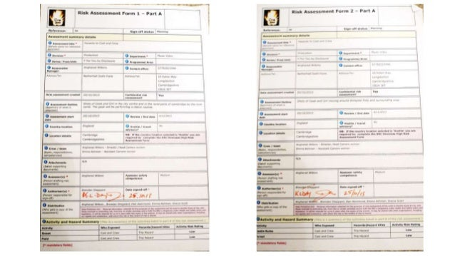 Risk Assessment 1 and 2 Signed