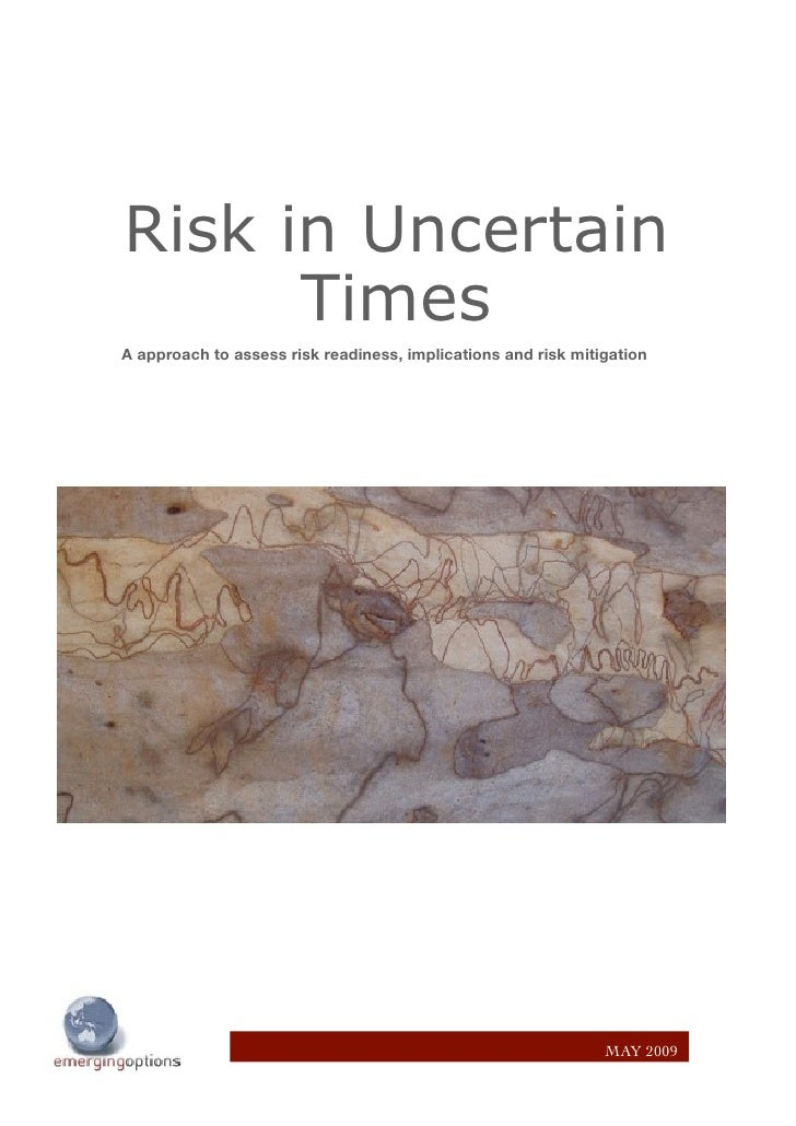 Risk in Uncertain       Times A approach to assess risk readiness, implications and risk mitigation                       ...