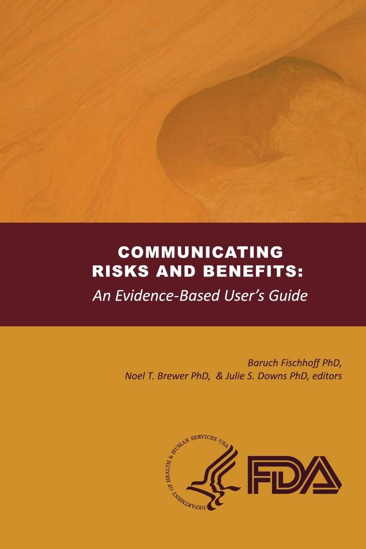 La comunicación riesgos y beneficios: Una Guía Basada en la Evidencia