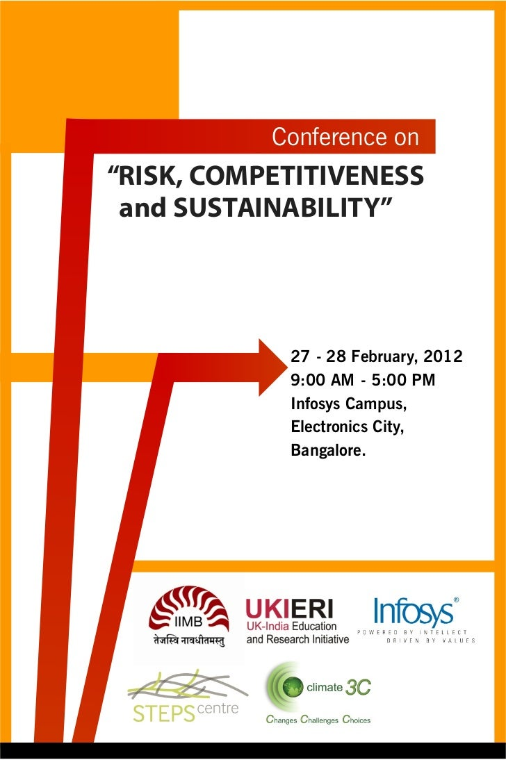 """Conference on""""RISK, COMPETITIVENESS and SUSTAINABILITY""""            27 - 28 February, 2012            9:00 AM - 5:00 PM    ..."""