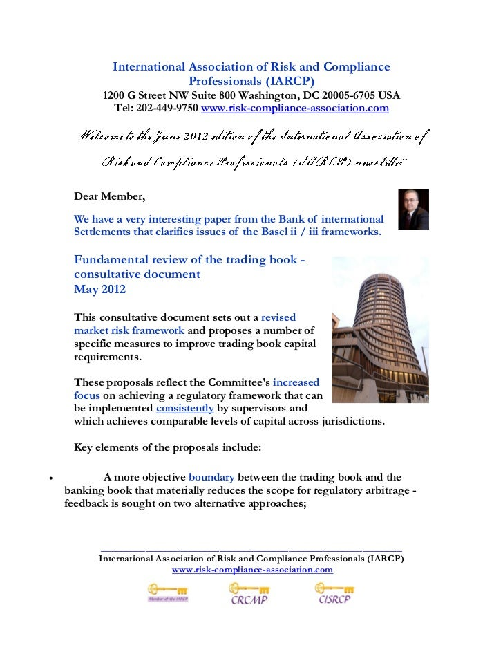 Risk and Compliance Management News June 2012