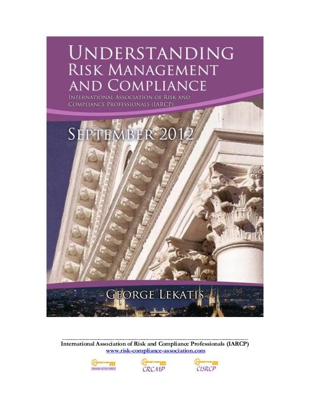 Risk Compliance News September 2012