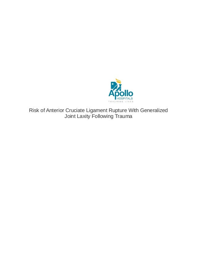 Risk of Anterior Cruciate Ligament Rupture With Generalized Joint Laxity Following Trauma