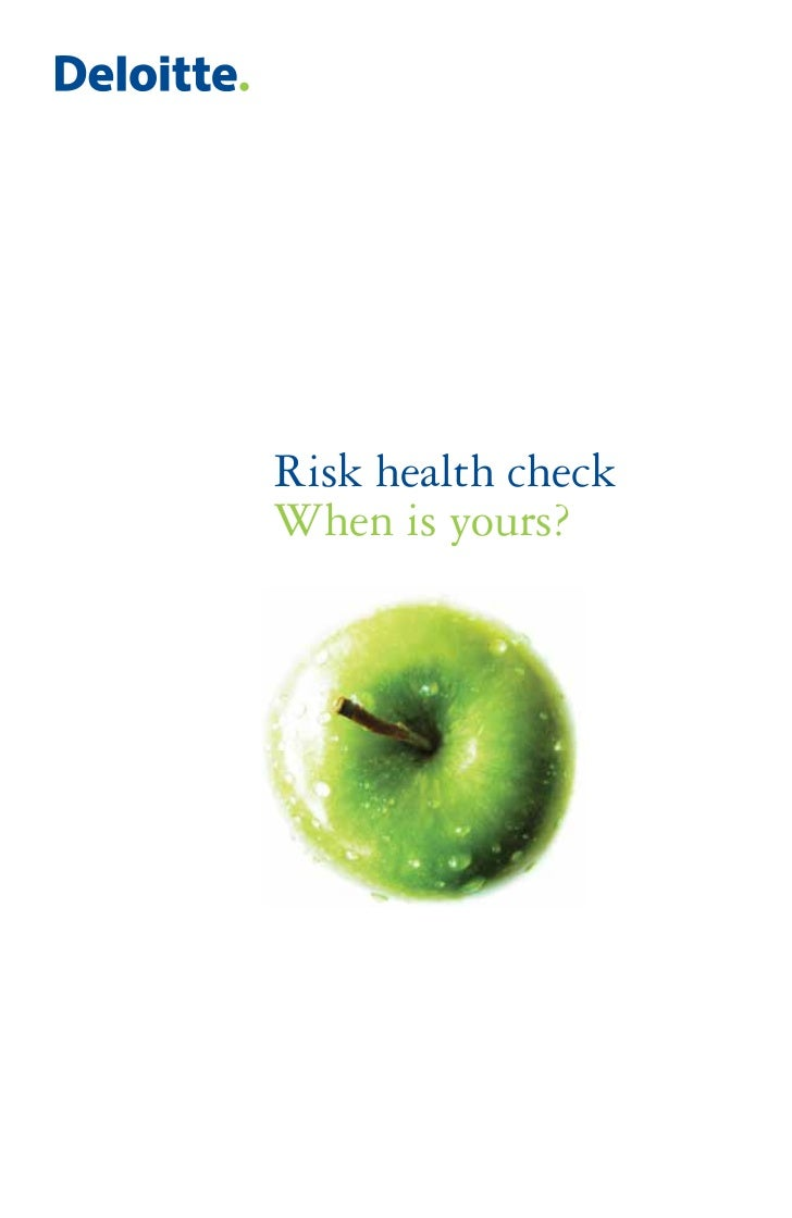Risk health checkWhen is yours?