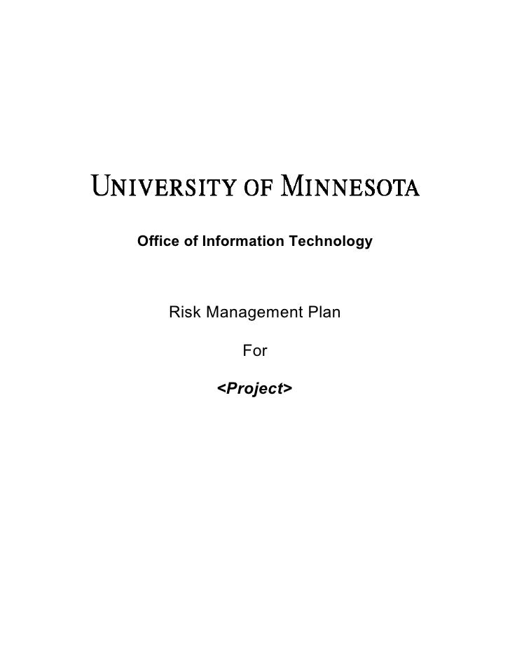 Office of Information Technology    Risk Management Plan              For          <Project>