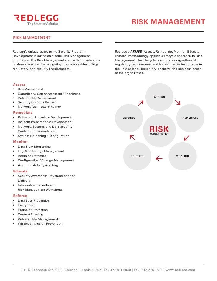 RISK MANAGEMENTRISK MANAGEMENTRedlegg's unique approach to Security Program                  Redlegg's ARMEE (Assess, Reme...