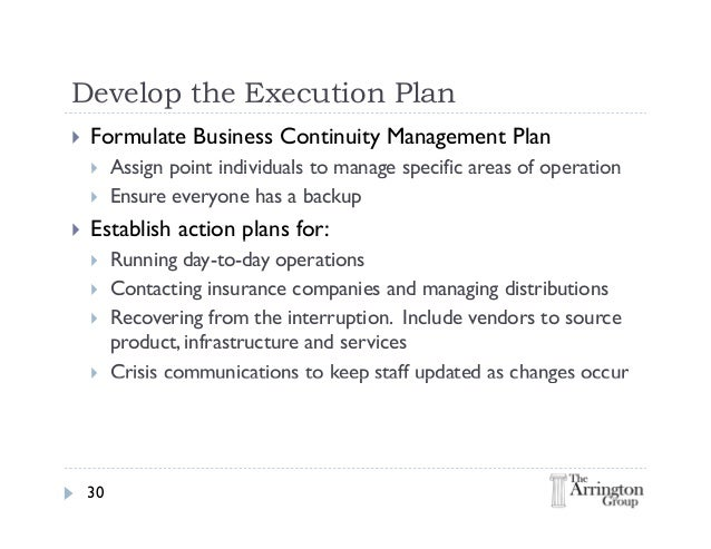 Risk management business plan
