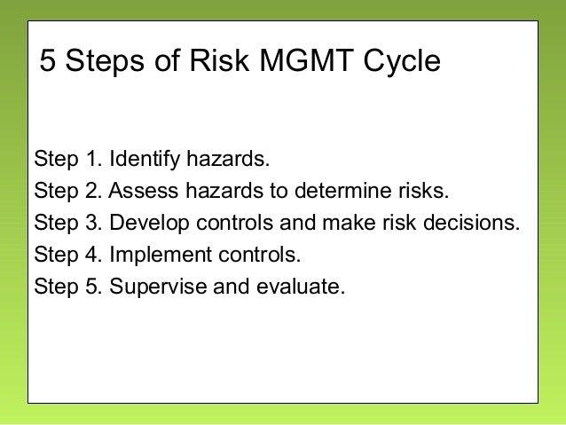 Composite Risk Management Steps 5 images
