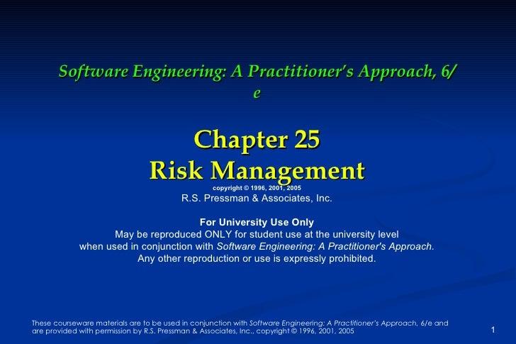 Risk Management by Roger Pressman