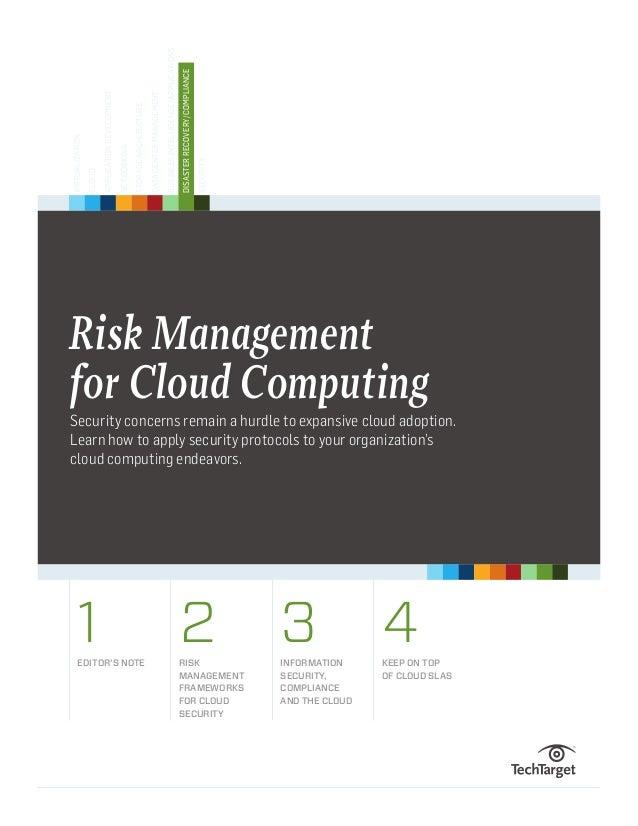 Risk management for cloud computing hb final
