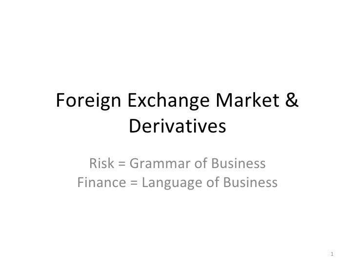 Forex derivatives