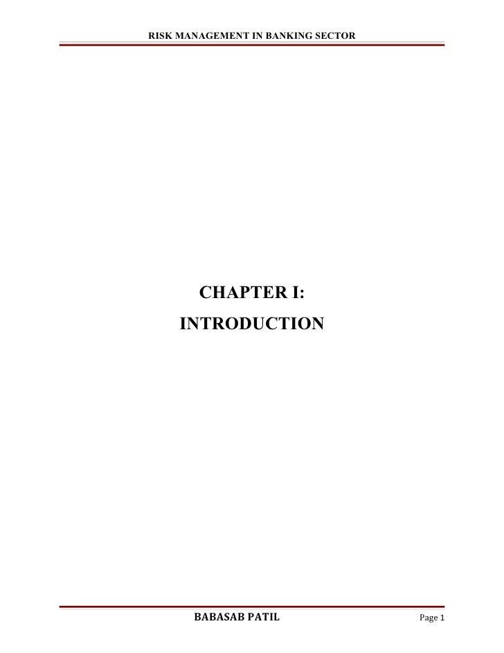 Dissertation on bank