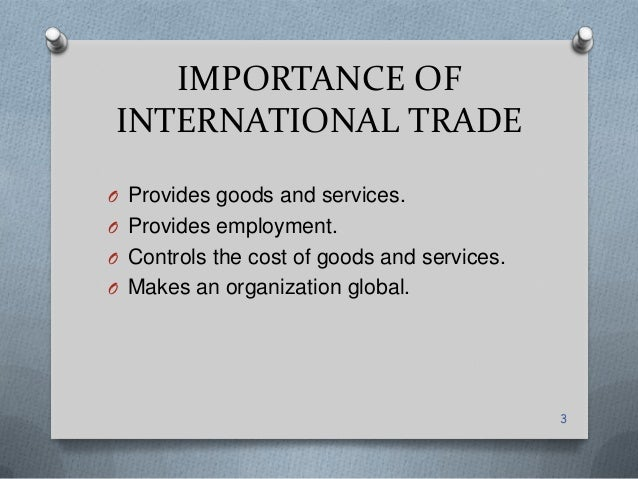international trade conclusion Conclusions and implications for fdi policy in developing countries,  countries and to international markets more generally  trade and investment,.