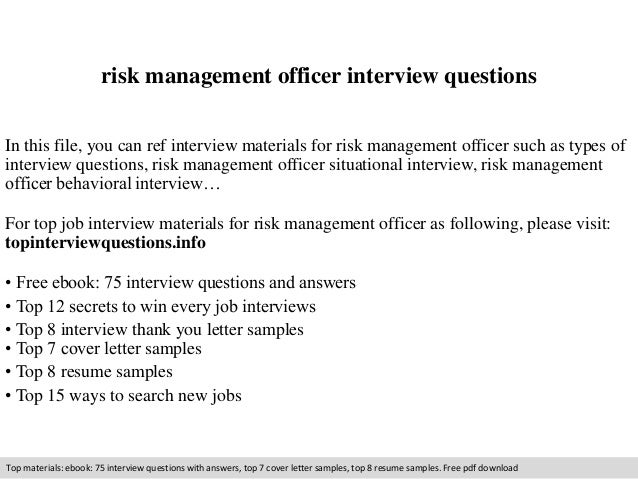 risk management essay questions Find answers on: risk management essay: short answers using the textbook required reading and the unit i lesson, please answer the following questions: what is risk.