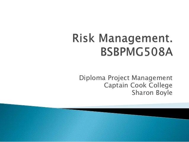 Risk management part 2