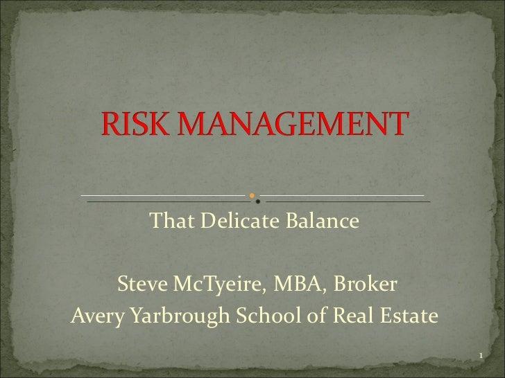 Risk management power point