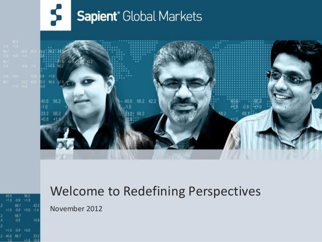 Welcome to Redefining PerspectivesNovember 2012
