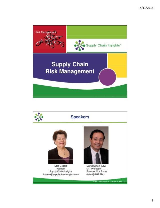 Lora & David's Risk Management Webinar Presentation