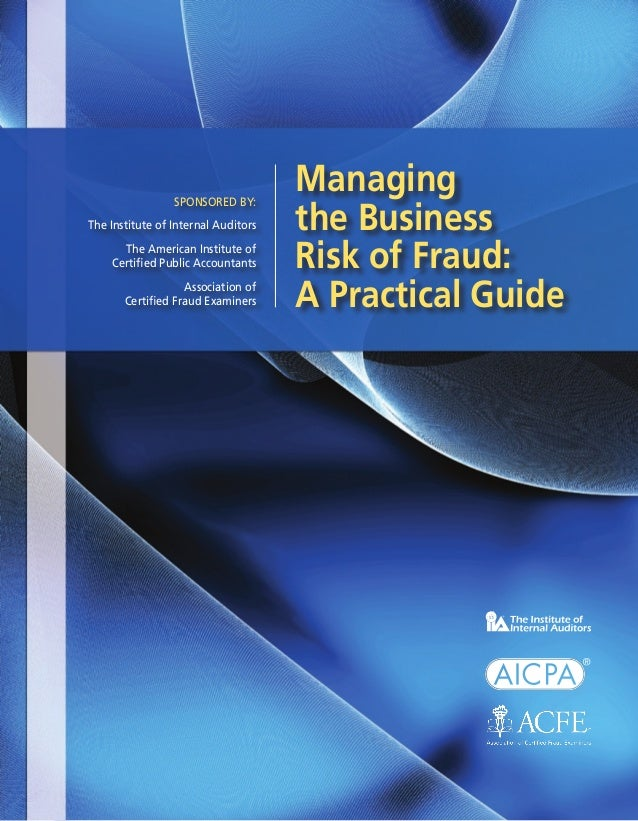 Risk of Fraud Managing Business Risk