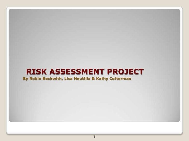 RISK ASSESSMENT PROJECTBy Robin Beckwith, Lisa Neuttila & Kathy Cotterman<br />1<br />