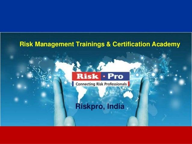Risk pro trainings brochure 2013