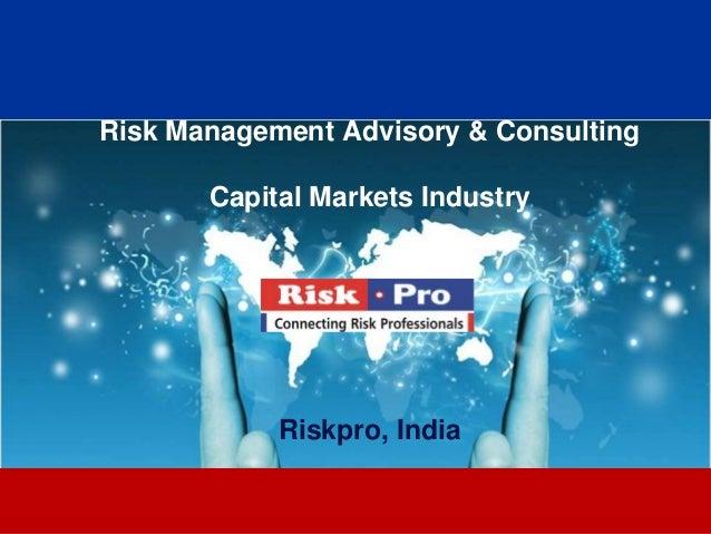 Riskpro capital markets industry 2013