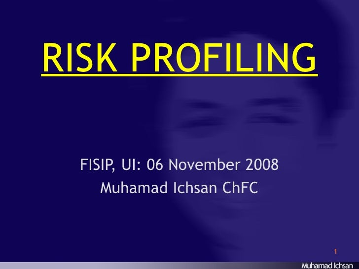 risk profiling The operational risk profile report for each firm: o identifies and remediates illegal acts per sec section 10a o provides an independent, forward looking legal risk.