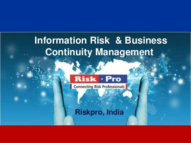 Riskpro Information Risk Management