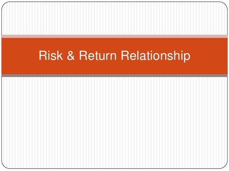 Risk & Return Relationship<br />