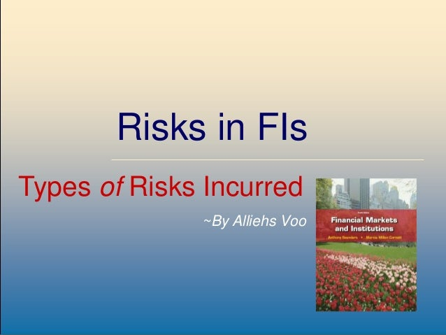 8-1McGraw-Hill/Irwin Risks in FIs Types of Risks Incurred ~By Alliehs Voo