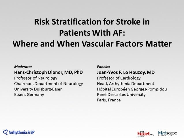 Risk stratification for stroke in patient with af