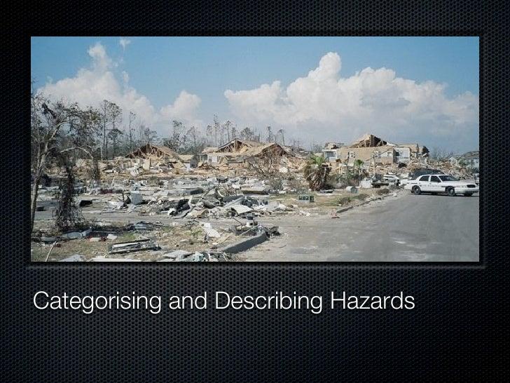 Categorising and Describing Hazards