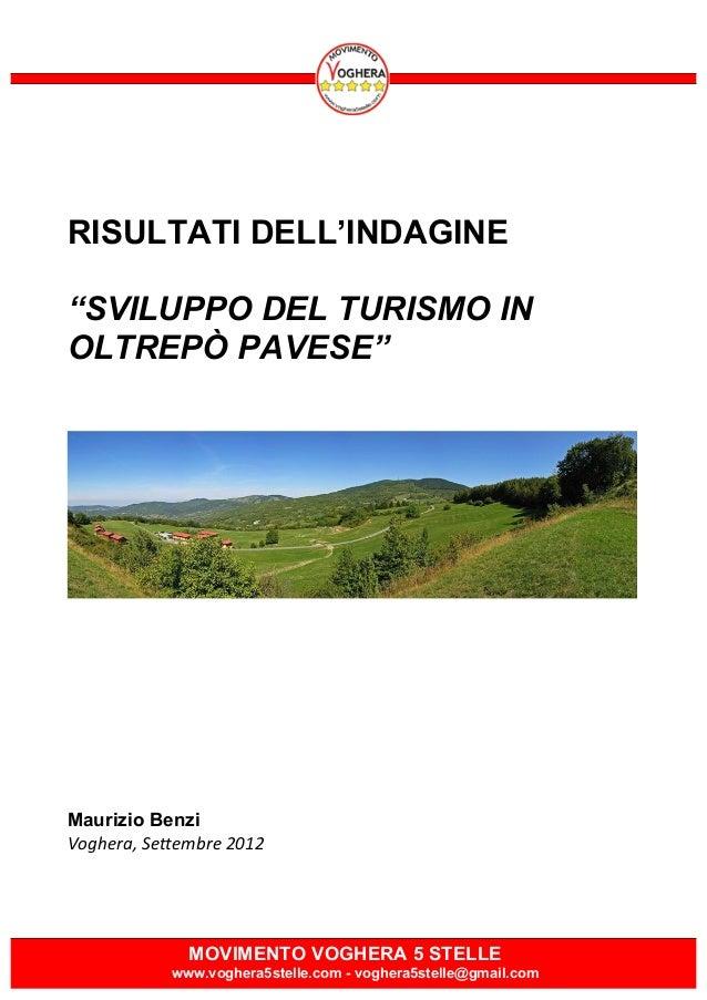 Sviluppo del Turismo in Oltrepò Pavese - Risultati dell'indagine