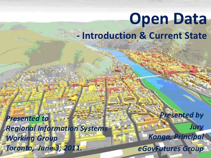 Open Data - Intro & Current State for Planners