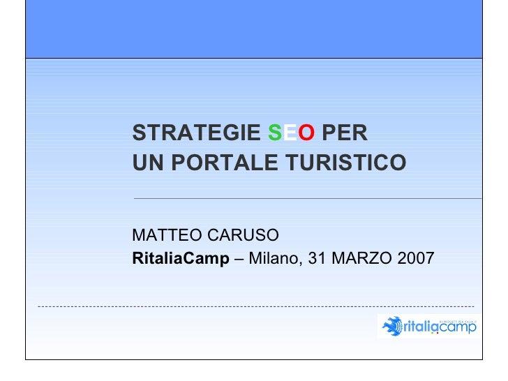 Ritalia - Strategie SEO - Matteo Caruso