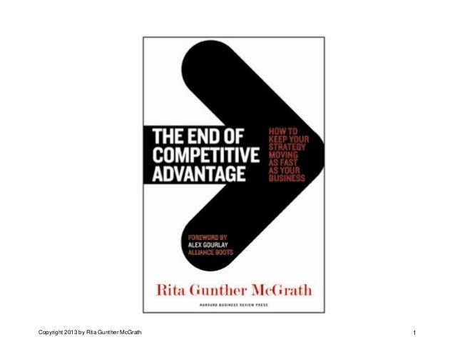 Professor Rita Mcgrath at business of software 2013 end of competitive advantage