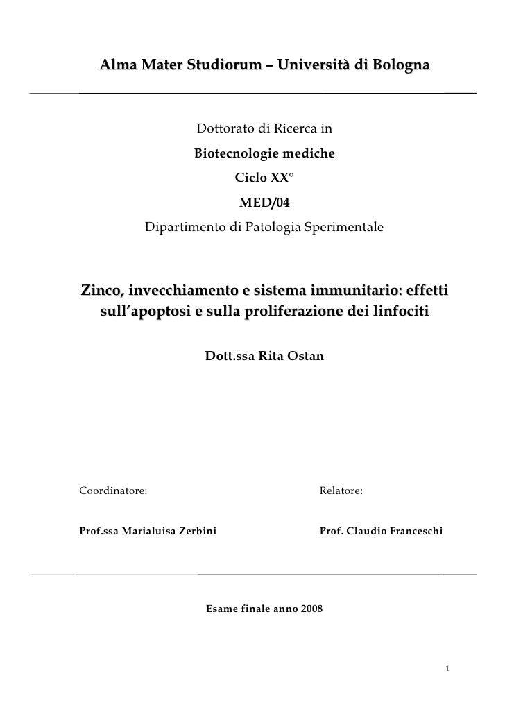 Alma Mater Studiorum – Università di Bologna                      Dottorato di Ricerca in                      Biotecnolog...