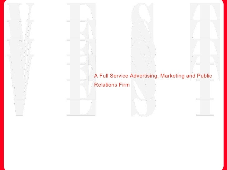 A Full Service Advertising, Marketing and Public Relations Firm