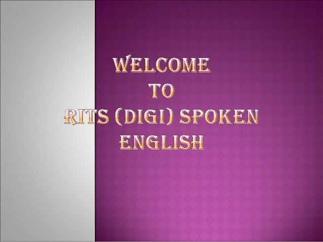 Rits digi spoken english