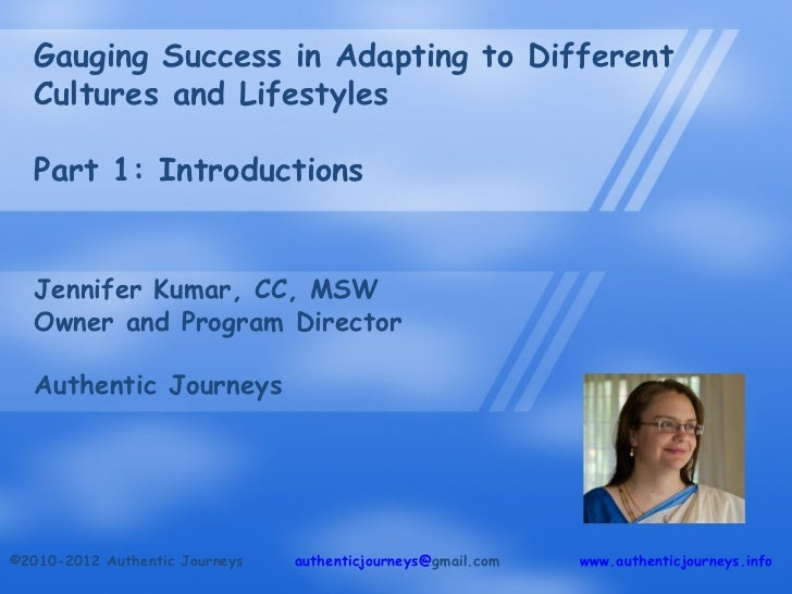 Gauging Success in Adapting to Different Cultures and Lifestyles