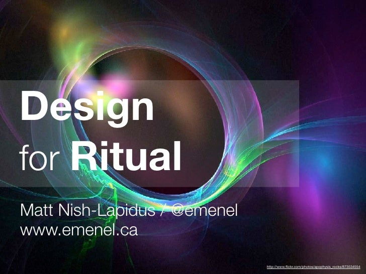Ritual In Design