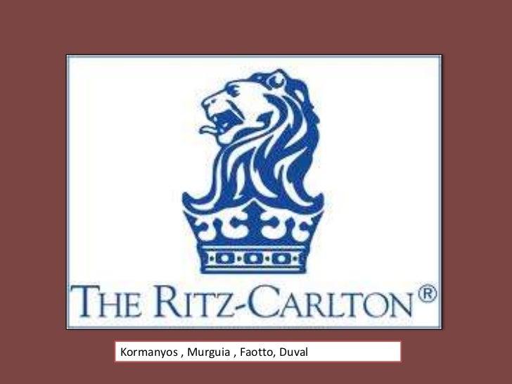 Ritz Carlton Analysis