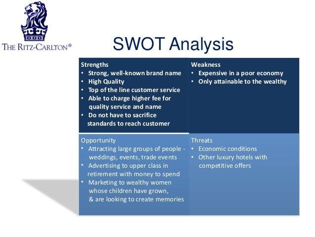swot analysis for fairmont hotels Starwood hotels & resorts is world's leading hotel management company in us the company was originally founded in 1969 headquarter of starwood hotels & resort in.