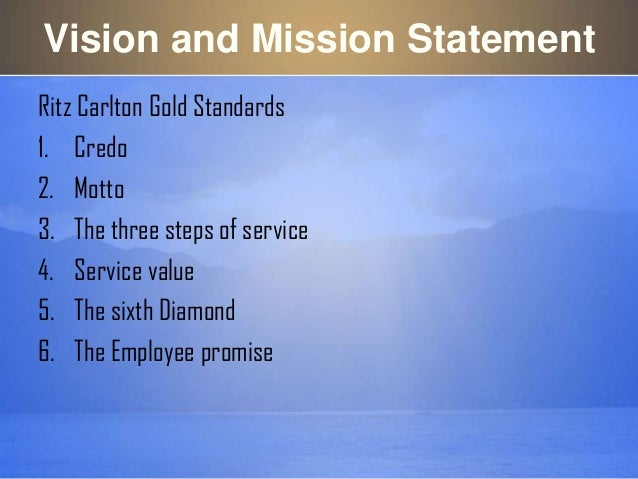 my vision and mission statements