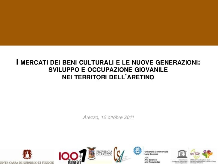 I mercati dei beni culturali e le nuove generazioni